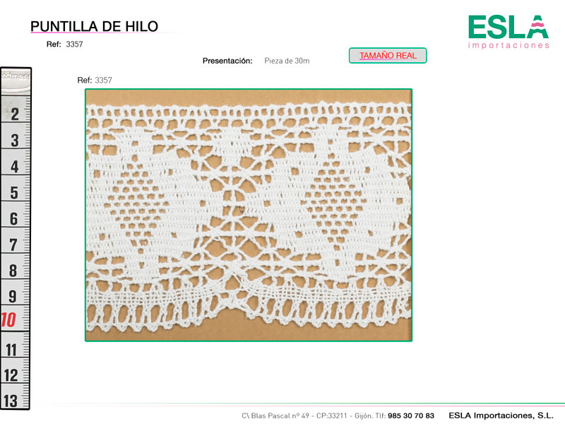 Puntilla de hilo, Familia 3356, Ref 3357