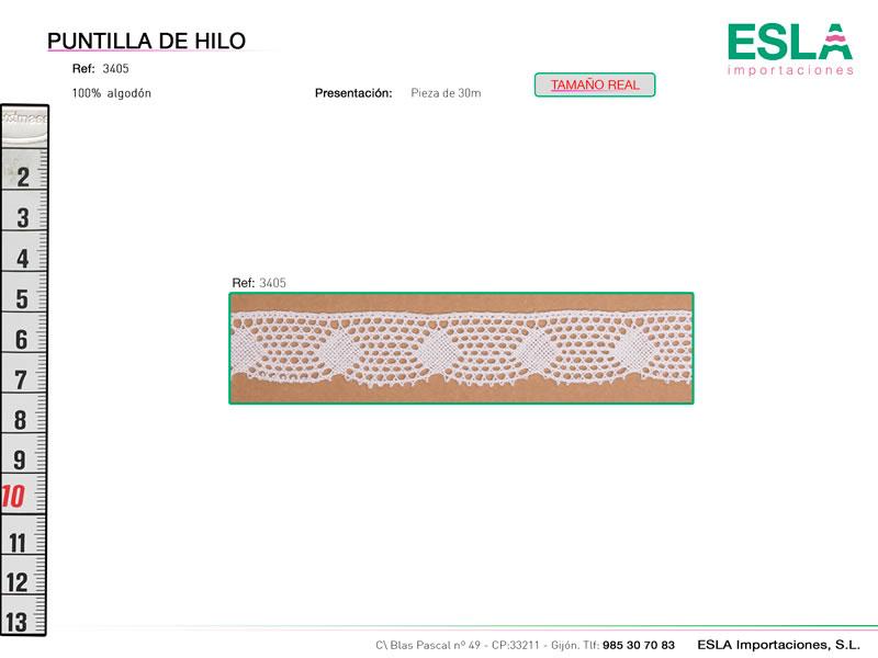 Puntilla de hilo, Familia 3380, Ref 3405