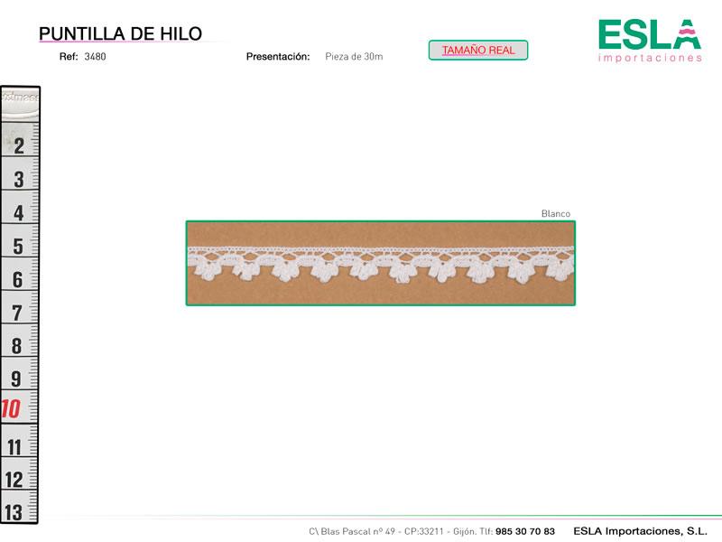 Puntilla de hilo, Familia 3480, Ref 3480