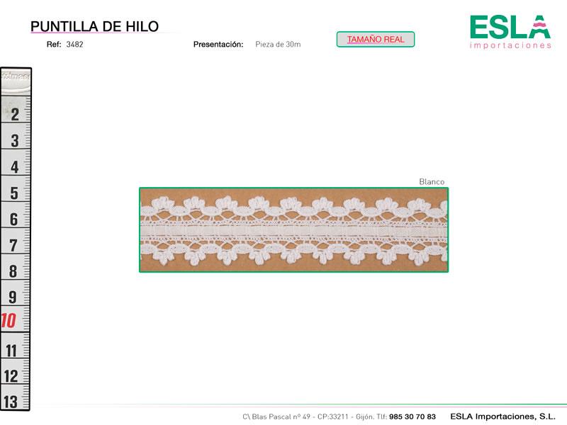 Puntilla de hilo, Familia 3480, Ref 3482