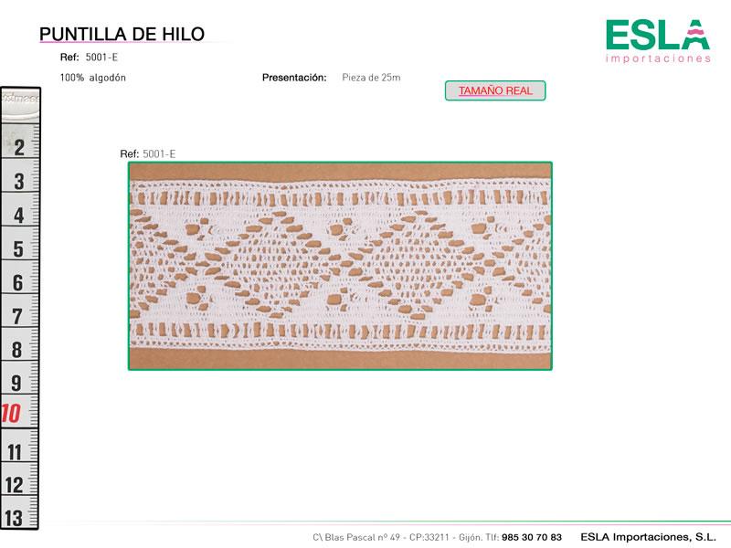 Puntilla de hilo, Familia 5001, Ref 5001-E