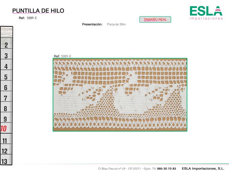 Puntilla de hilo, Familia 5089, Ref 5089-E