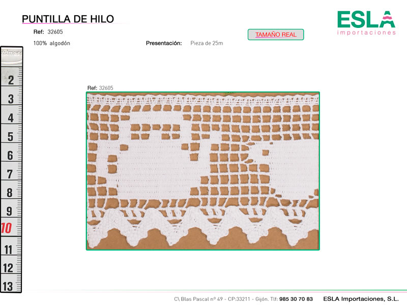 Puntilla de hilo, Familia 32605, Ref 32605