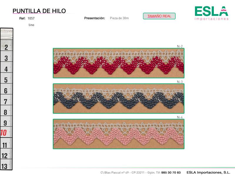 Puntilla de hilo, Familia 1057, Ref 1057-Lino