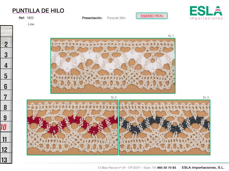 Puntilla de hilo, Familia 1318, Ref 1822