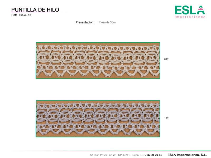 Puntilla de hilo, Familia 2255, Ref 15446-55