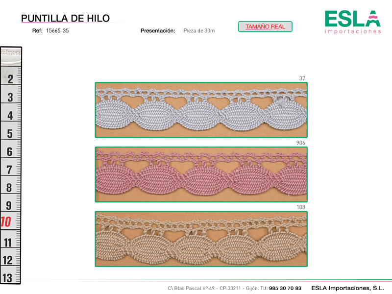 Puntilla de hilo, Familia 2333, Ref 15665-35