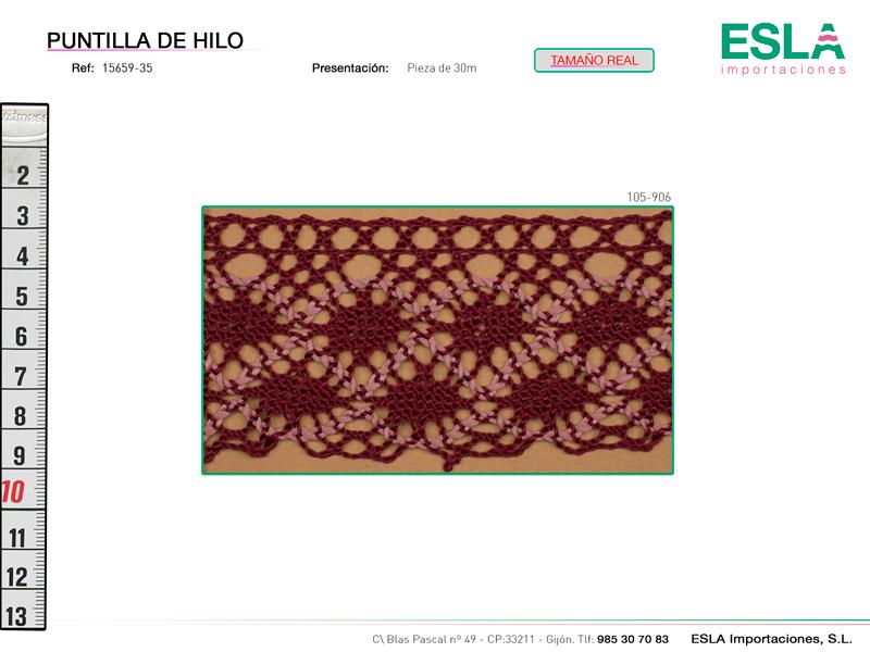 Puntilla de hilo, Familia 2359, Ref 15659