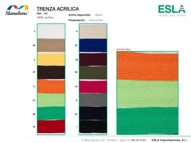 Trenza acrilica, Manubens, Ref 280