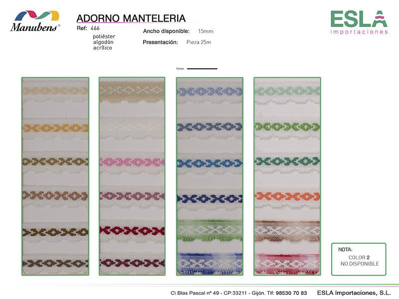 Adorno manteleria, Manubens, Ref 466