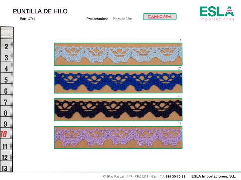 Puntilla de hilo  de colores, Ref 4764