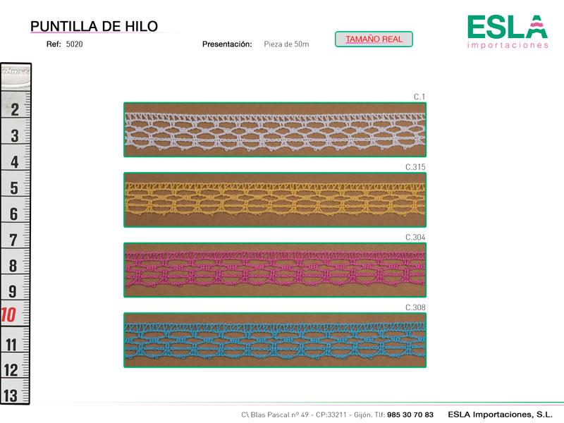 Puntilla de hilo de colores, Ref 5020