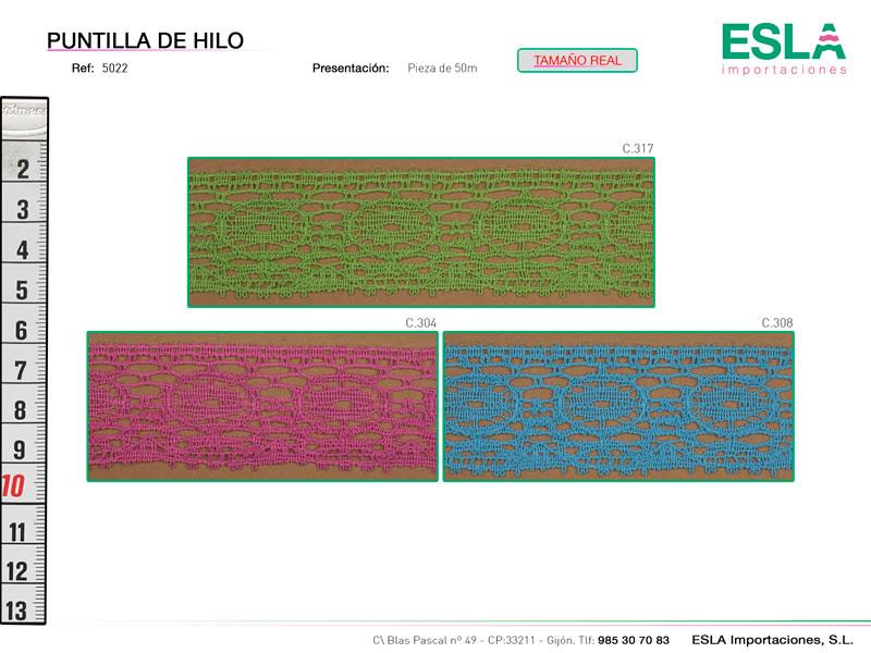Puntilla de hilo de colores, Ref 5022