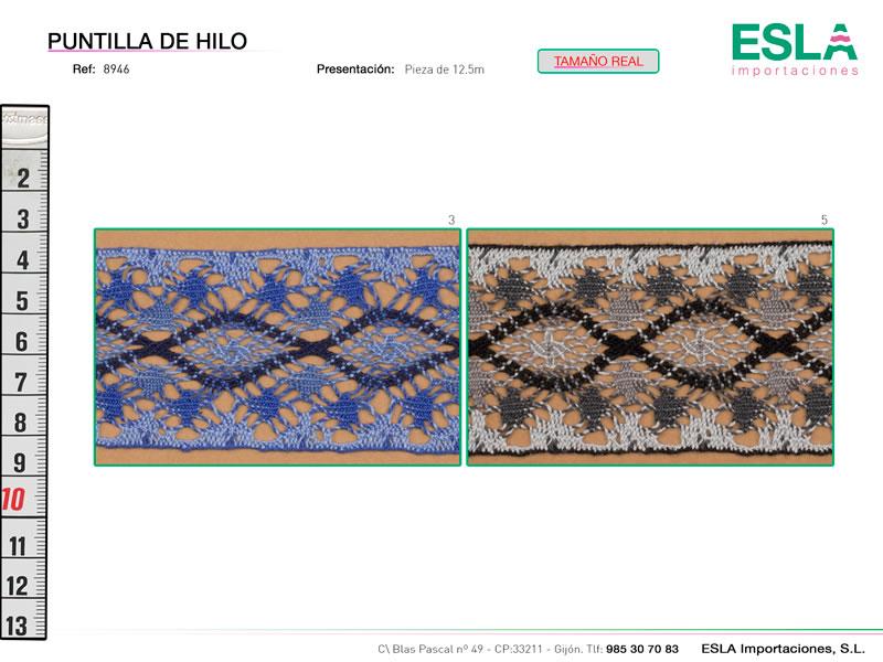 Puntilla de hilo de colores, Familia 8945, Ref 8946