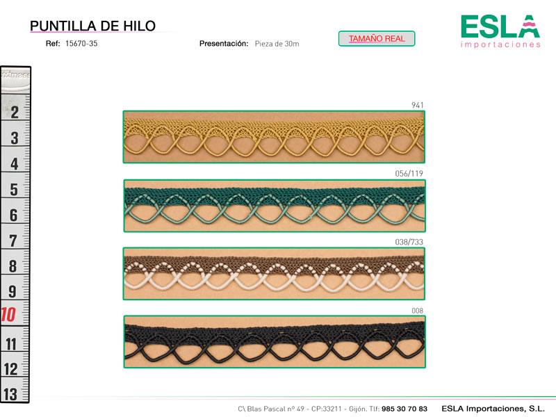 Puntilla de hilo de colores, Ref 15670-35