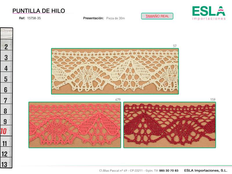 Puntilla de hilo de colores, Ref 15758-35