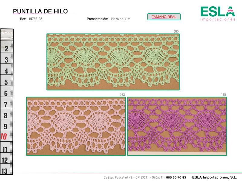 Puntilla de hilo de colores, Familia 2430, Ref 15783-35