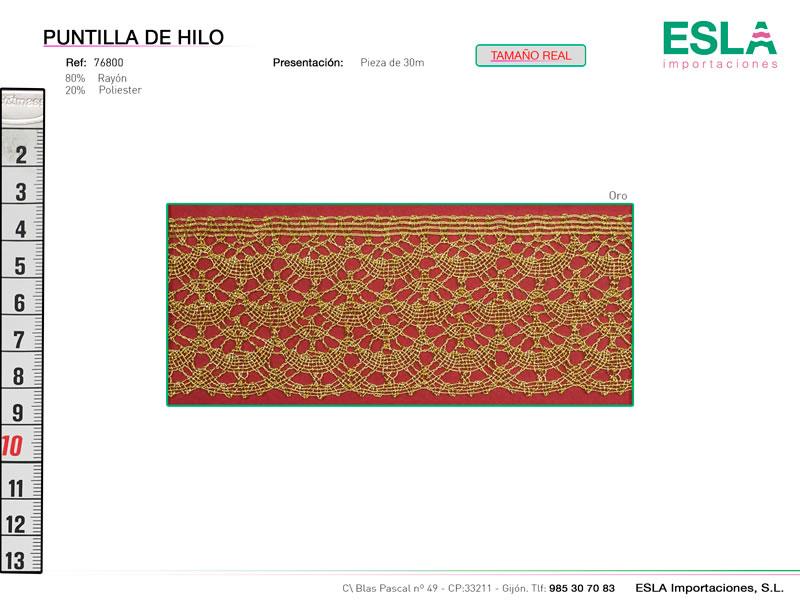 Puntilla de hilo de colores, Familia 76600, Ref 76800