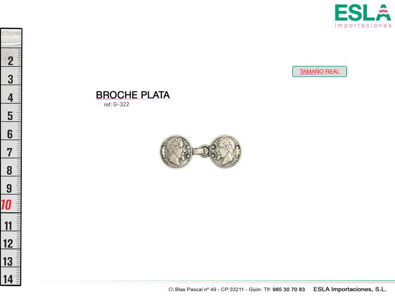 Broche metal, Monedas, Ref G-322