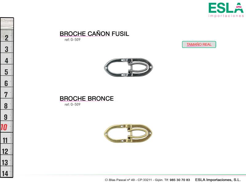 Broche metal, Ref G-509