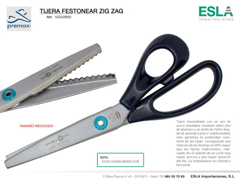Tijera festonear 21cm, Ring lock, Premax, Ref V63620800