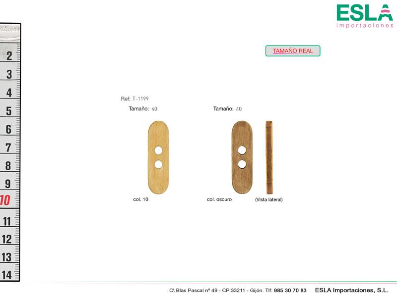 Botón madera, Ref T-1199