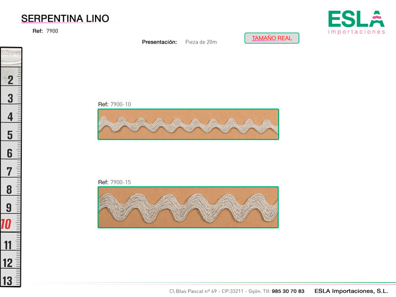 Ondulina lino, Ref 7900