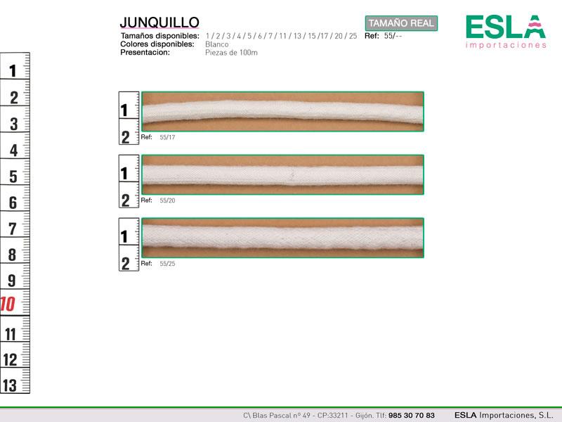 Junquillo, Ref 55, Diametros: - 17 - 20 - 25