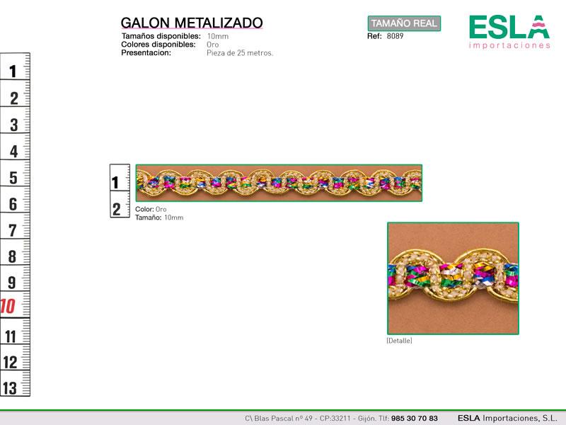 Galon metalizado, carnaval, Ref 8089