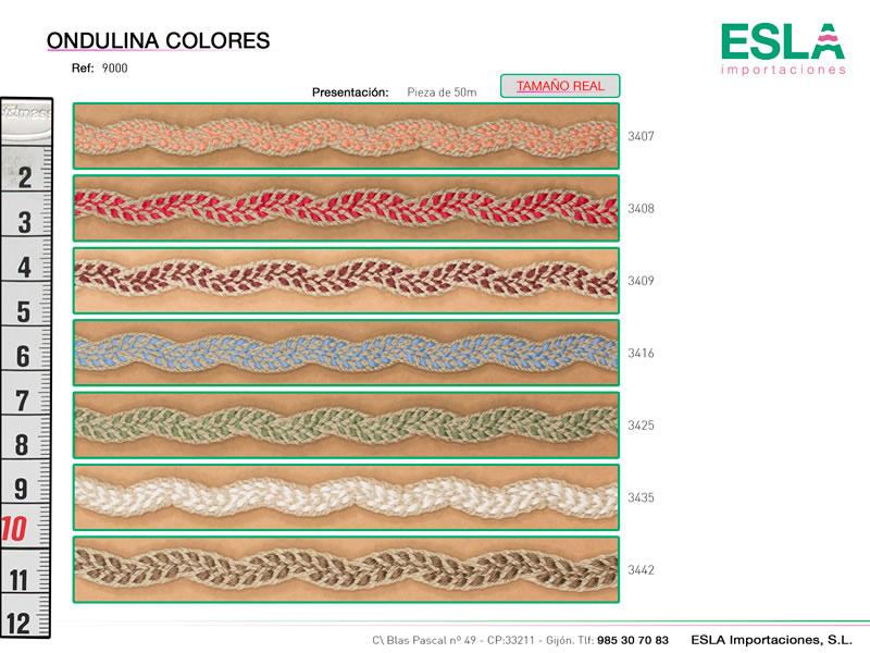 Ondulina Lino colores, Familia 900-G, Ref 9000