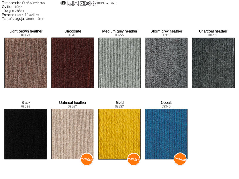 Lana Bravo, Shachenmayr, Carta de colores, Ref 9801211