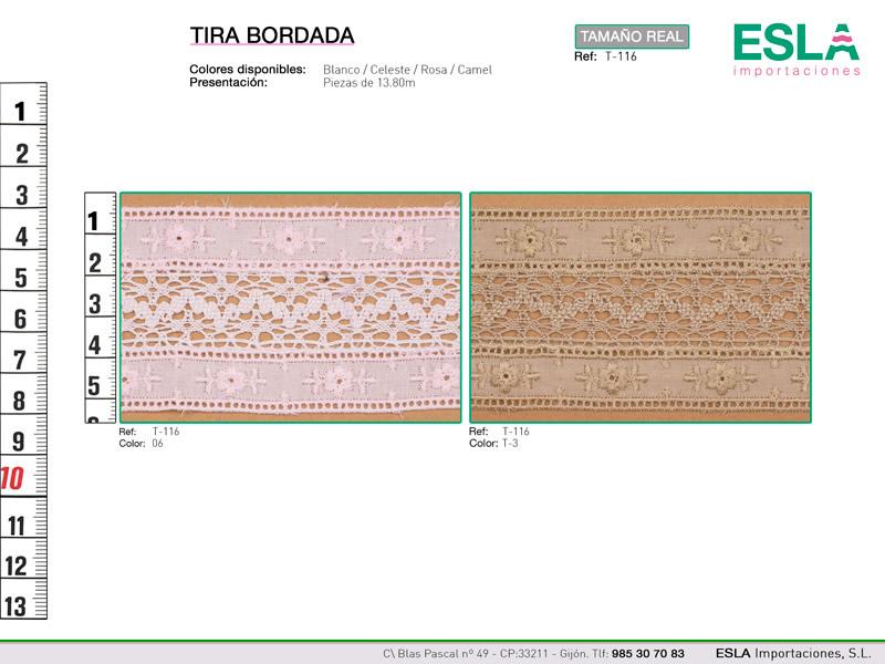 Tira bordada, Ref T-116