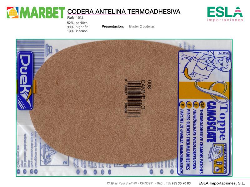 Codera antelina termoadhesiva, Marbet, Ref 1034