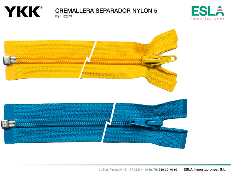 Cremallera Nylon 5, YKK, Ref 02549
