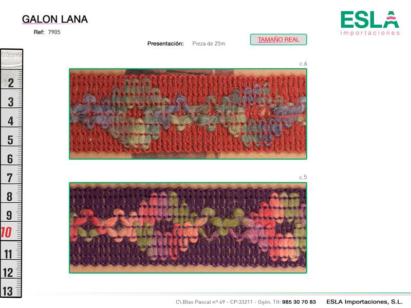 Galón lana, Ref 7905