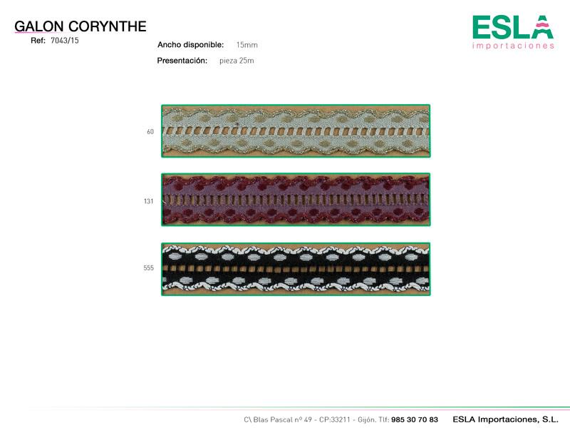 Galón corynthe, Ref 7043/15