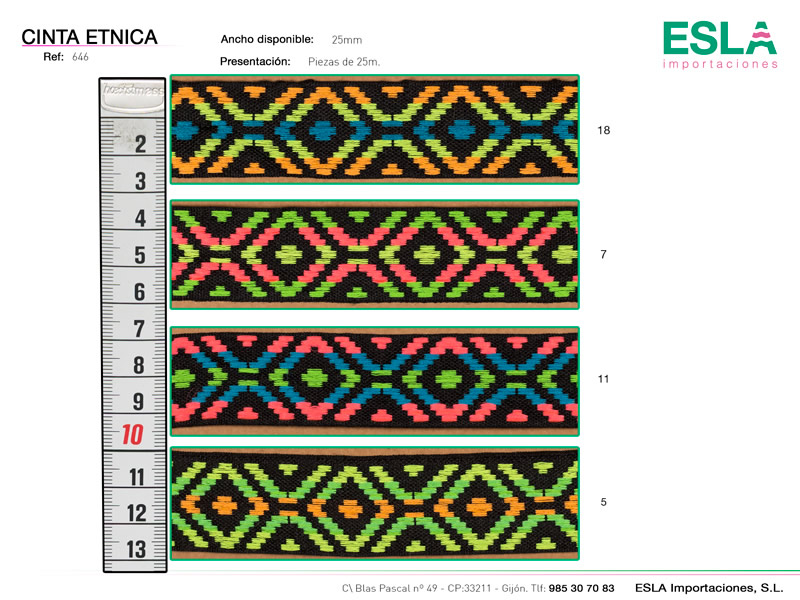 Tapacosturas étnico, Ref 646