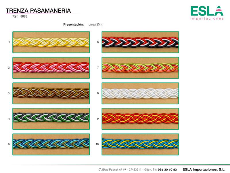 Trenza pasamaneria, Ref 8883
