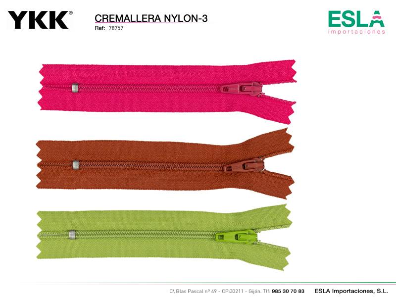 Cremallera Automatica nylon-3, Ref 78757