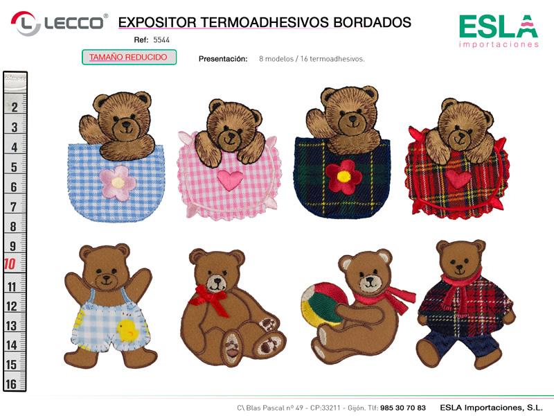 Expositor termoadhesivos bordados , LECCO, Ref 5544