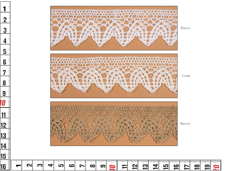Puntilla hilo, colores, Ref 20464