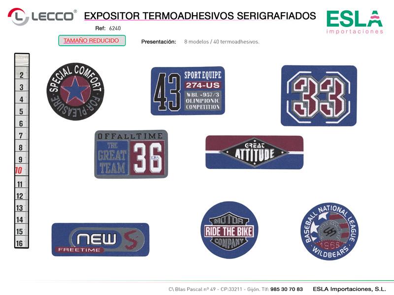 Expositor termoashesivos serigrafiados, LECCO, Ref 6240