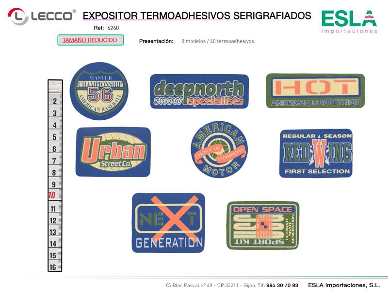 Expositor termoadhesivos serigrafiados, LECCO, Ref 6260