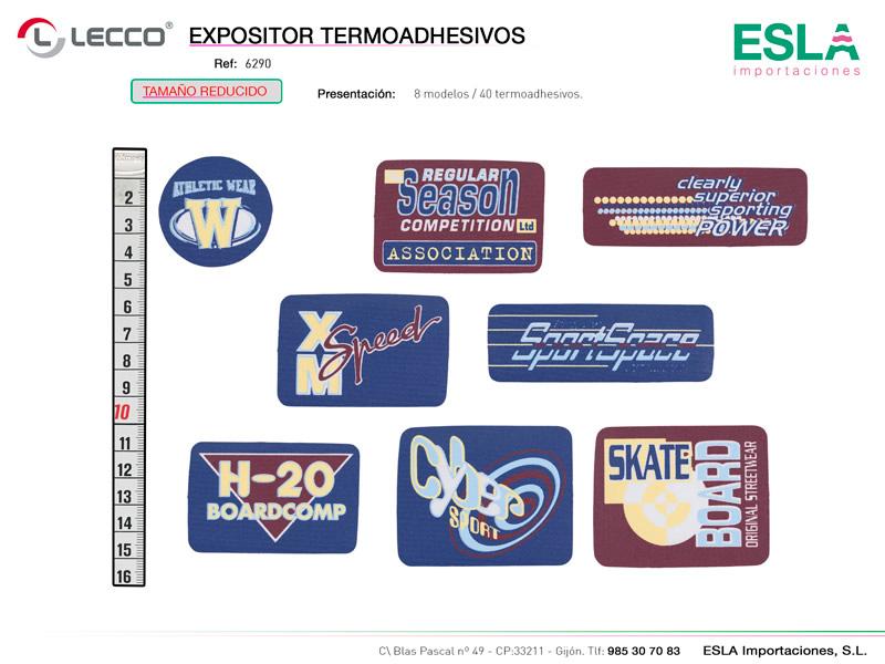 Expositor termoashesivos serigrafiados, LECCO, Ref 6290