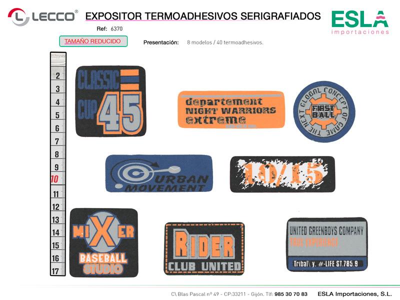 Expositor termoashesivos serigrafiados, LECCO, Ref 6370