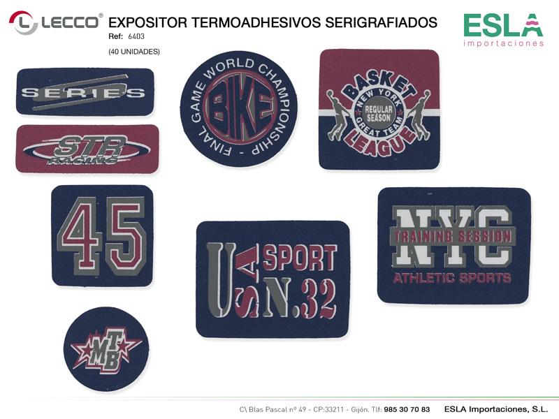 Expositor termoashesivos serigrafiados, LECCO, Ref 6403
