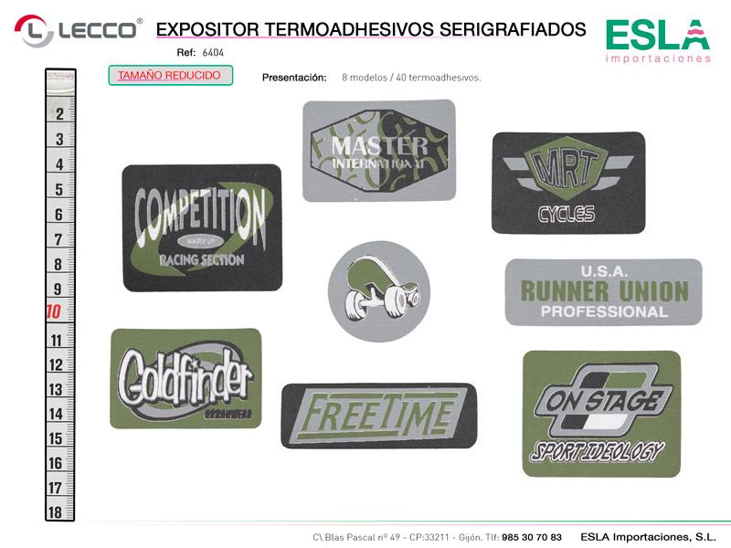 Expositor termoashesivos serigrafiados, LECCO, Ref 6404
