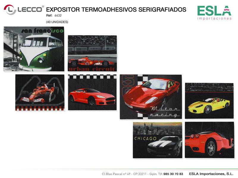 Expositor termoashesivos serigrafiados, LECCO, Ref 6432