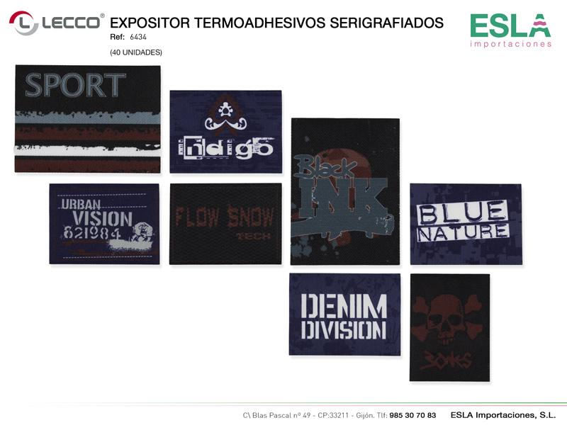 Expositor termoashesivos serigrafiados, LECCO, Ref 6434