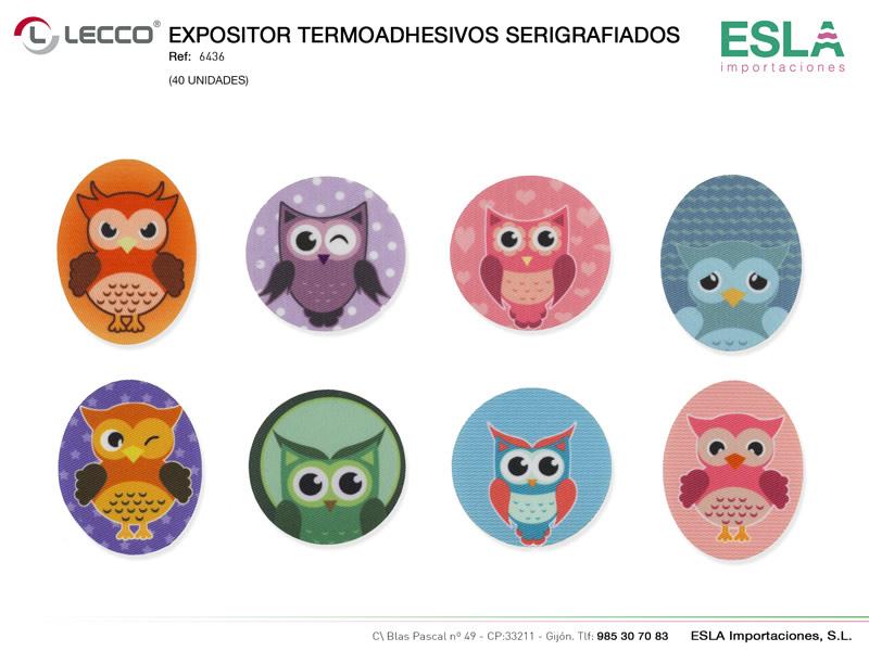 Expositor termoashesivos serigrafiados, LECCO, Ref 6436